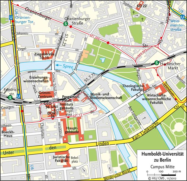 Karte Campus Mitte