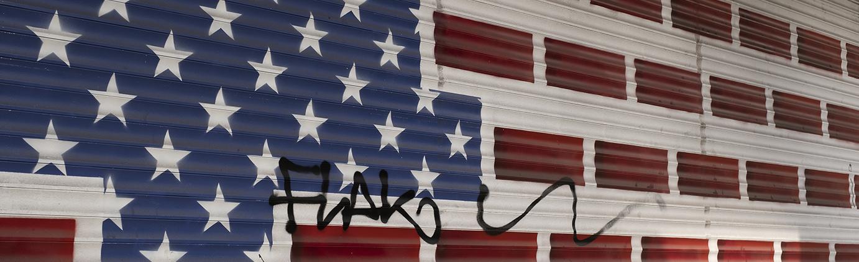 USA-Flagge Street Art