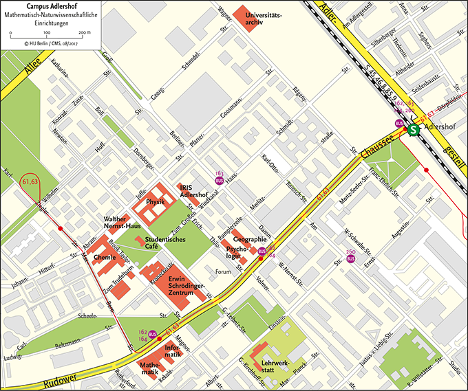 Karte Adlershof